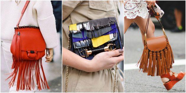 Модные сумки 2018 года: Сумка с бахромой