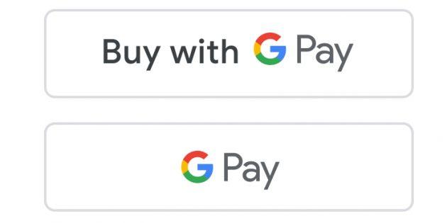 Кнопки с логотипом Google Pay