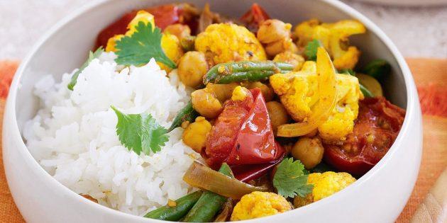 Рецепты с нутом: Овощное карри с нутом