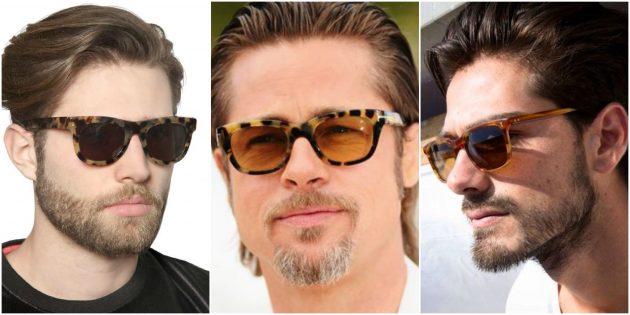 Модные мужские очки в черепаховой оправе