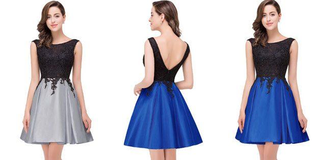 Коктейльное двухцветное платье