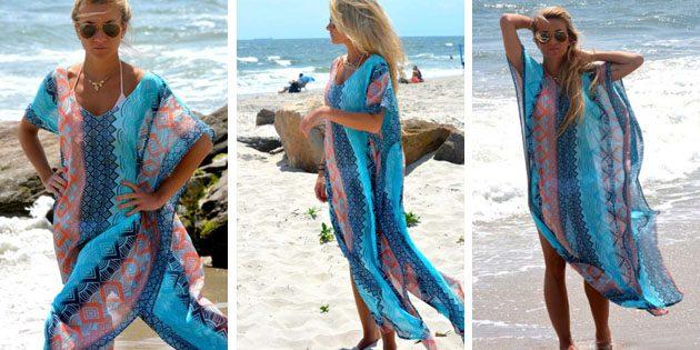 Пляжные платья: Платье с геометрическими принтами