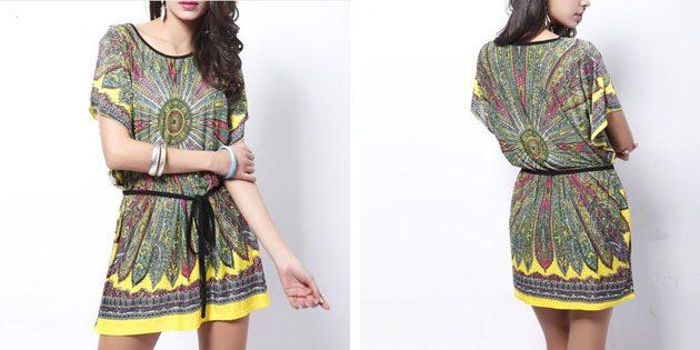 Пляжные платья: Платье с этническим принтом