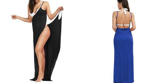 Пляжные платья: Длинное платье с тонкими бретелями