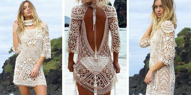 Пляжные платья: Платье с открытой спиной