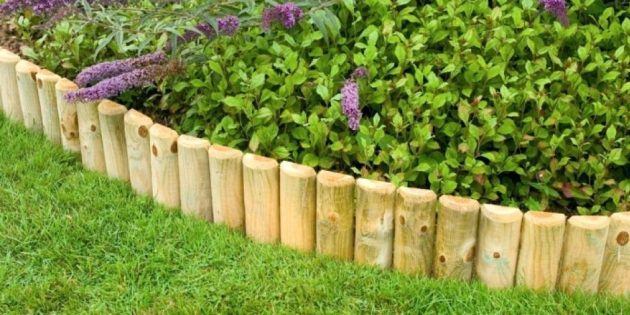 Как сделать клумбы из дерева