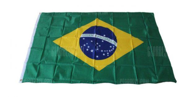 спортивная атрибутика: флаг Бразилии