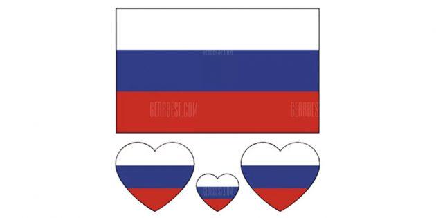 спортивная атрибутика: переводной стикер с флагом