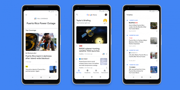 Приложение «Google Новости» вышло на Android и iOS