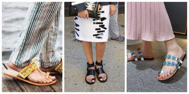Модная женская обувь 2018 года: Сандалии с кольцом для большого пальца