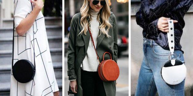 Модные сумки 2018 года: Круглая сумка