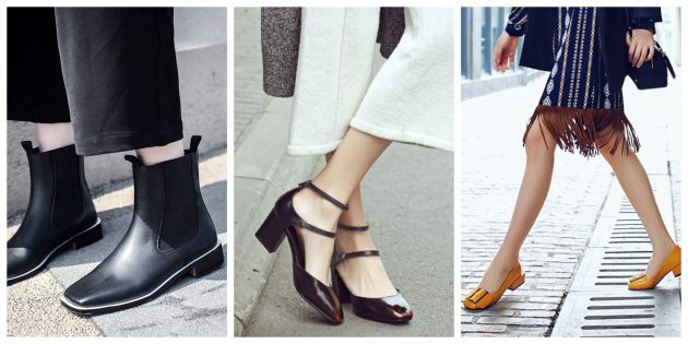 Модная женская обувь 2018 года: Обувь с квадратными носками