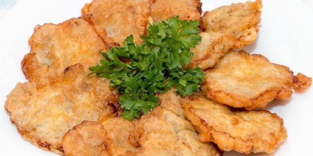 Рецепты: Куриные сердечки в кляре