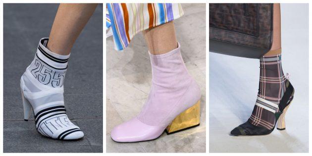 Модная женская обувь 2018 года: Туфли-носки