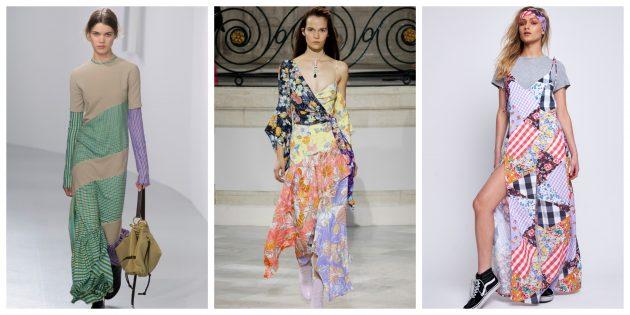 Самые модные платья 2018 года: Многослойные летние платья в стиле пэчворк