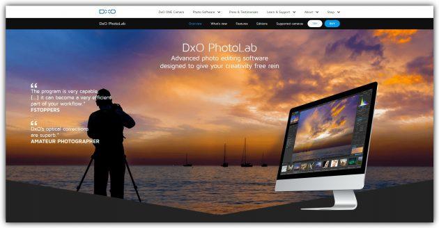 Лучшие фоторедакторы: DxO Photolab