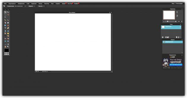 Бесплатные растровые редакторы: Pixlr