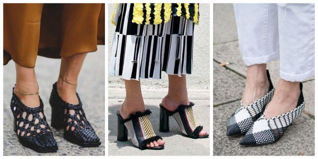 Модная женская обувь 2018 года: Плетёная обувь