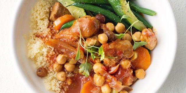 Рецепты с нутом: Рагу со свининой, нутом и овощами