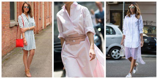 Самые модные платья 2018 года: Платья-рубашки