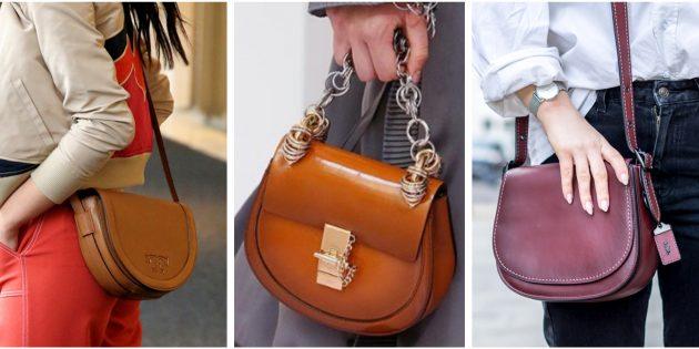 Модные сумки 2018 года: Сумка-седло