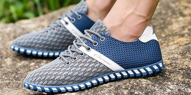Мужские летние кроссовки: Сетчатые лёгкие кроссовки