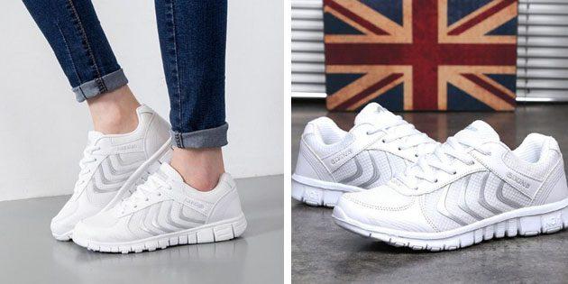 Женские летние кроссовки: Лёгкие светлые кроссовки