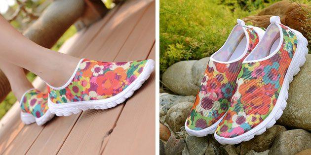Женские летние кроссовки: Разноцветные кроссовки