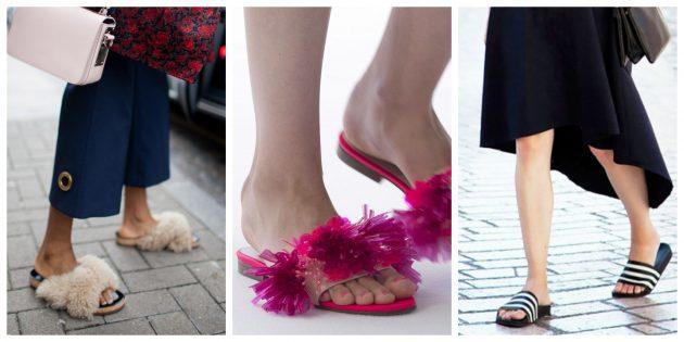 Модная женская обувь 2018 года: Слиперы