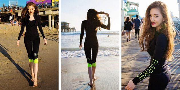 Красивые купальники: Купальный костюм с длинными рукавами и бриджами