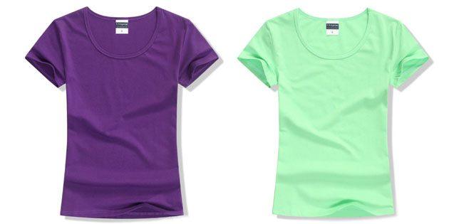Базовые женские футболки из европейских магазинов: Базовая футболка с O-образной горловиной