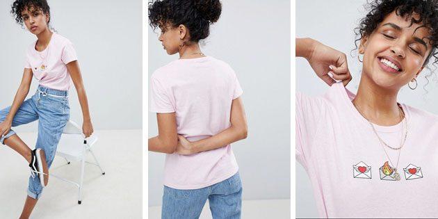 Модные женские футболки из европейских магазинов: Футболка Daisy Street свободного кроя