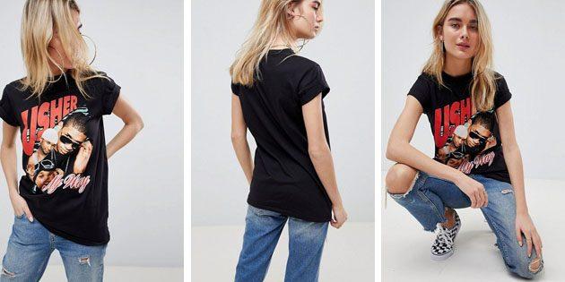 Модные женские футболки из европейских магазинов: Хлопковая футболка ASOS