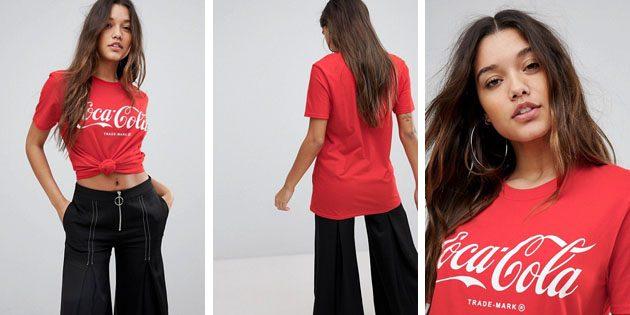 Модные женские футболки из европейских магазинов: Футболка красная PrettyLittleThing