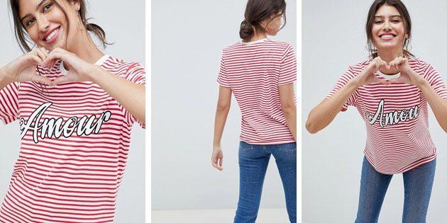 Модные женские футболки из европейских магазинов: Футболка ASOS DESIGN