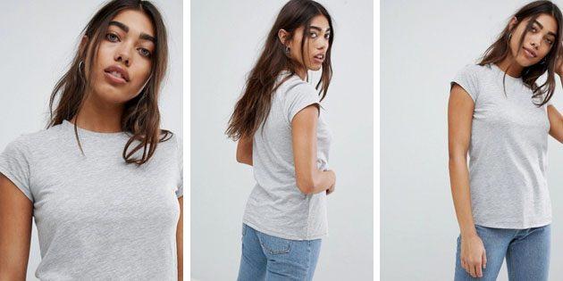 Базовые женские футболки из европейских магазинов: Базовая футболка от ASOS