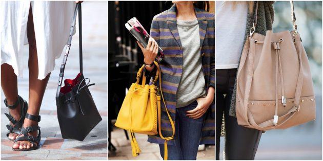 Модные сумки 2018 года: Сумка-ведро