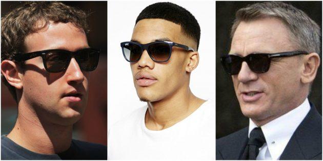 Модные мужские очки Wayfarer