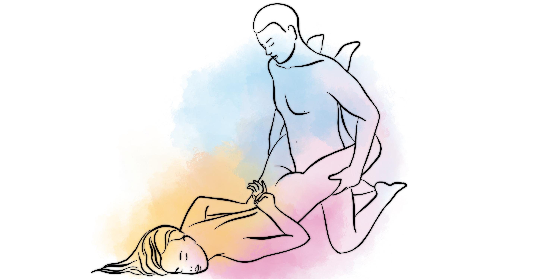 Позы для секса ноги сжаты вход сзади
