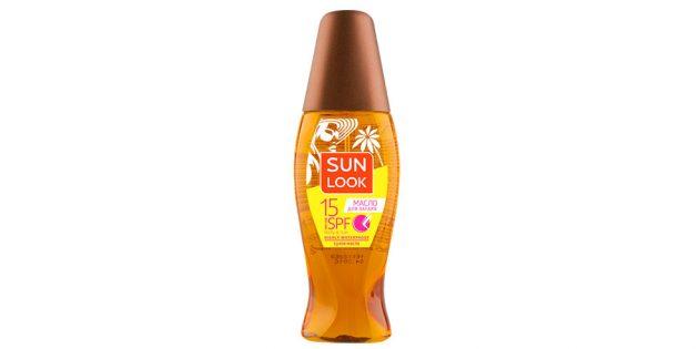 Сухое масло для загара Sun Look
