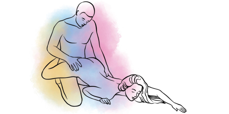 Полная партнерша сексуальная позиция сзади видео