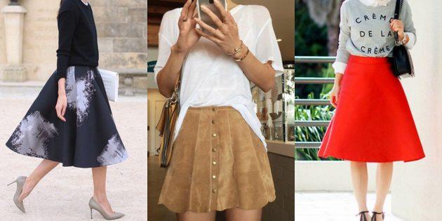 Самые модные юбки 2018 года: А-образные юбки