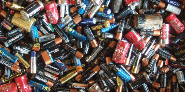 Сдать батарейки: использованные аккумуляторы