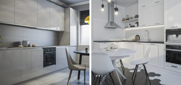 Проект кухни: два варианта планировки