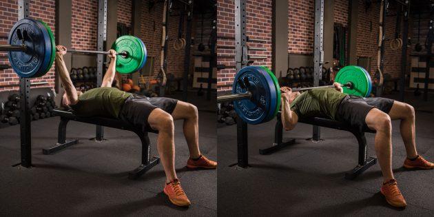 Как нарастить мышечную массу: жим штанги лёжа
