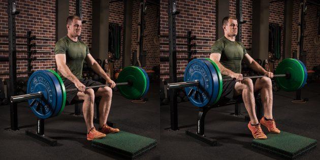 Программа тренировок: Подъём на носки сидя
