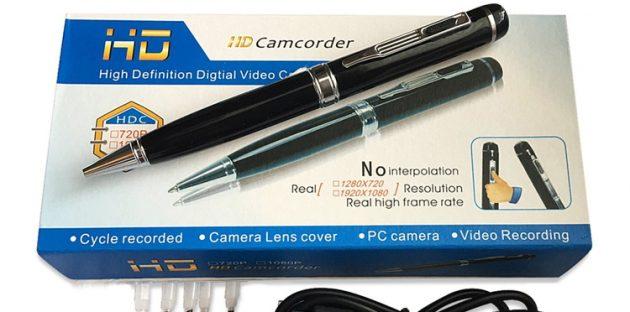 Запрещённые товары. Ручка со встроенной камерой