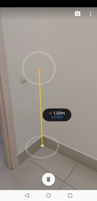 Google Measure: фото результата измерения