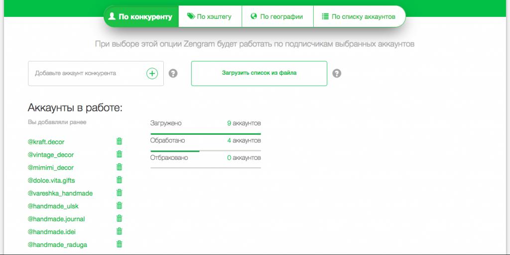 Zengram: поиск по конкурентам