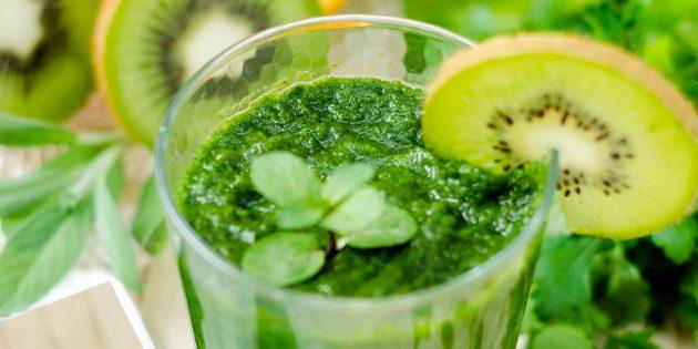 Рецепты соков. Зелёный сок